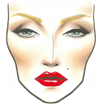 Marilyn by MAC Makeup face charts, Face chart, Vintage