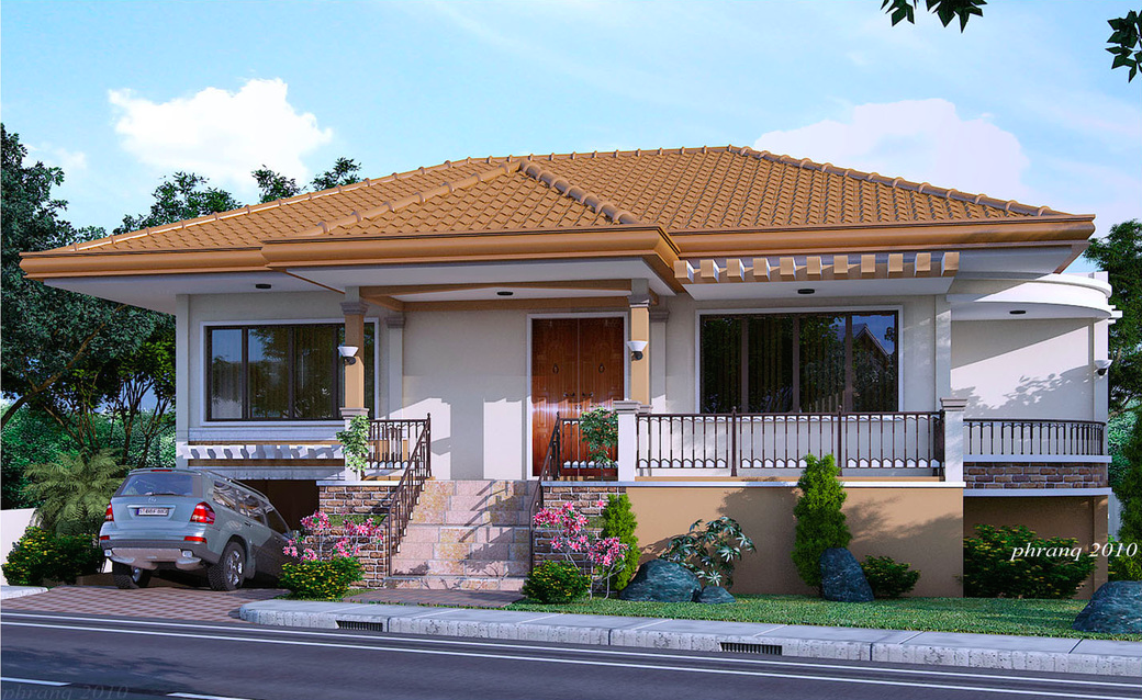 One Storey House Design With Basement Garage Pinoy House Designs Pinoy House Designs One Storey House Bungalow House Design House Design