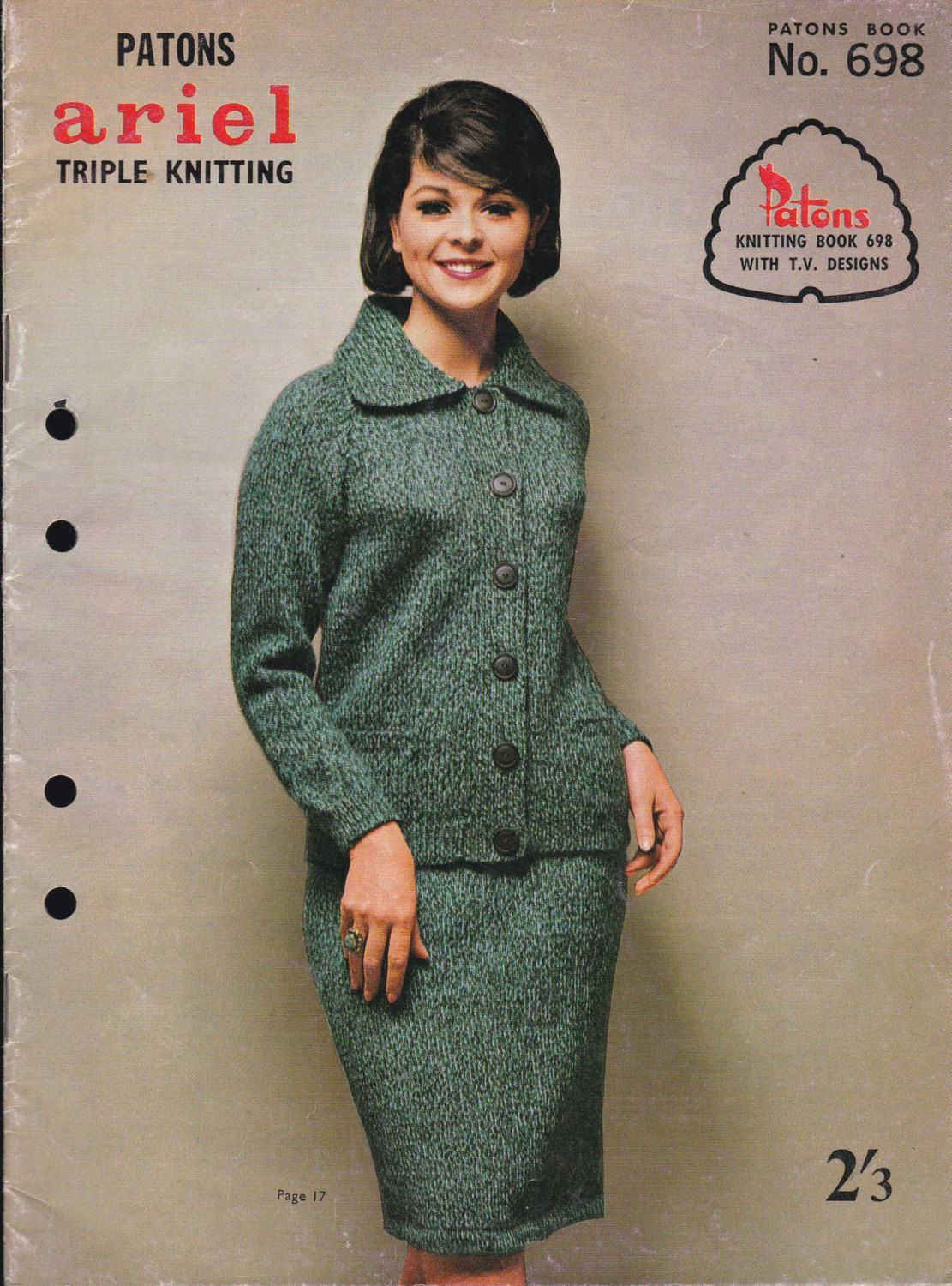 Vintage 1960s - Paton\'s Knitting Pattern No 698 Exciting New Knits ...