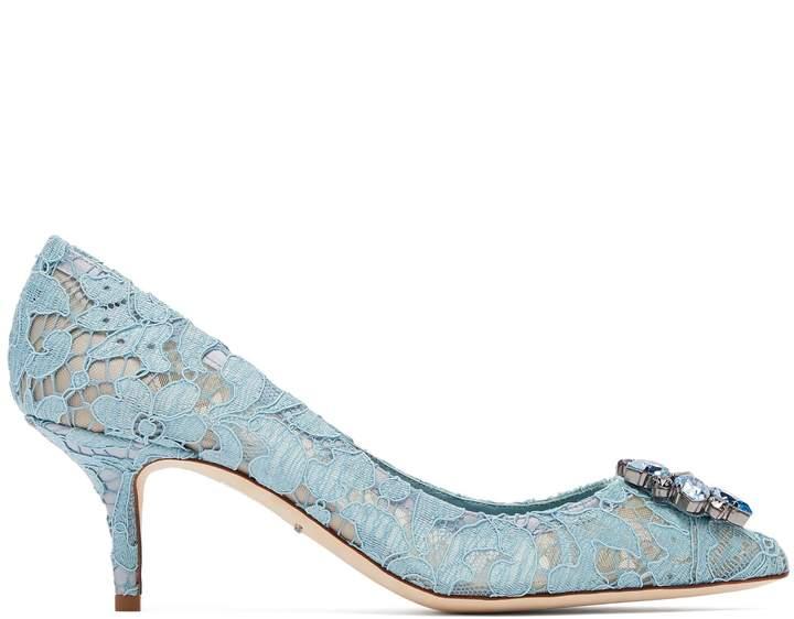 ec5c32ff690f DOLCE   GABBANA Bellucci crystal-embellished lace pumps Forrest Gump Shoes