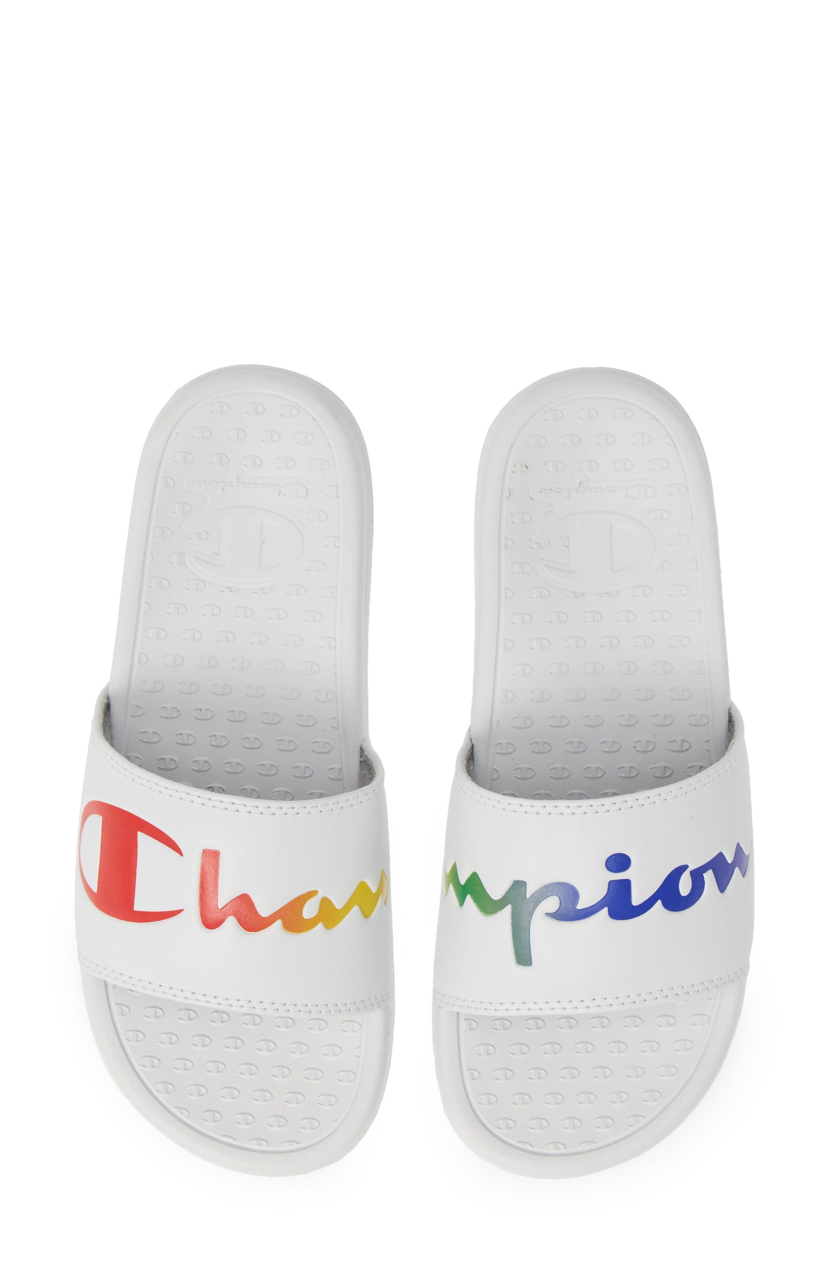 Champion Womens Super Slide Split Script Logo Slides Sandal
