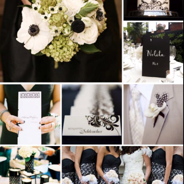 Black, white, and pale green | wedding ideas | Pinterest | Wedding ...