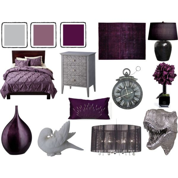 Grey And Dark Lavender Bedroom No Place Like Home
