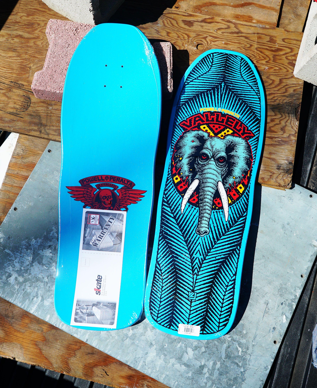 Powell Peralta Vallely Elephant Skateboard Deck Blue 10 X 30 25 Classic Skateboard Skateboard Decks Powell Peralta