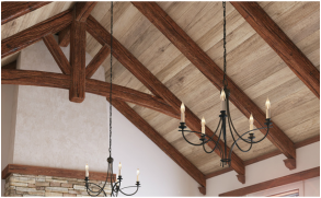 Cathedral Ceiling Superior Faux Wood Beam Installation