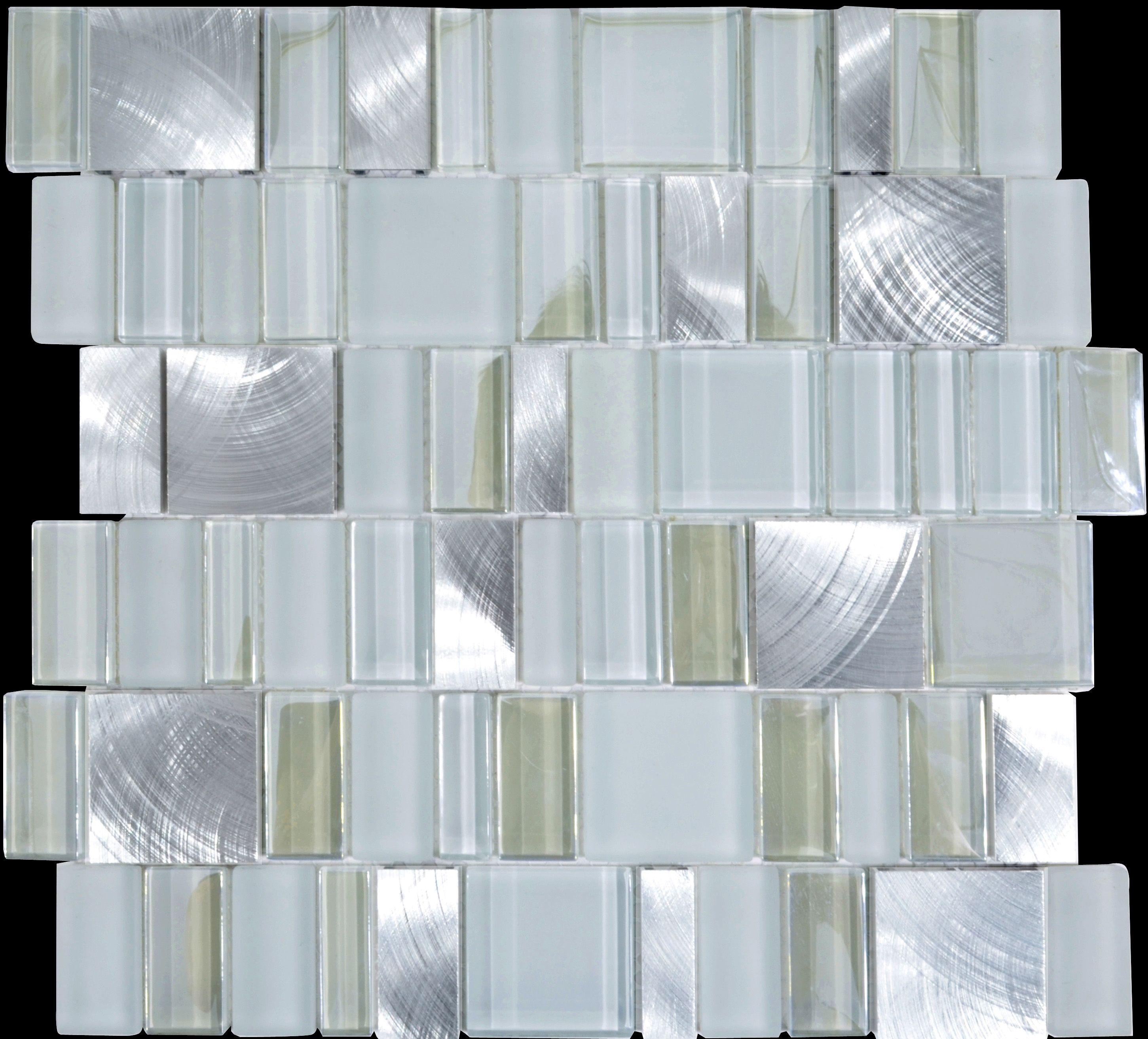 Metal and Glass Tile Backsplash Cheap Brush Aluminum Tiles Crystal ...