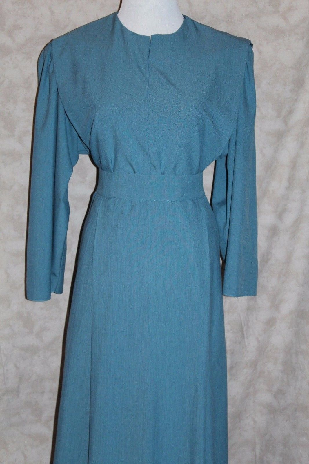 Nice amazing amish mennonite aqua tint modest cape u apron dress b