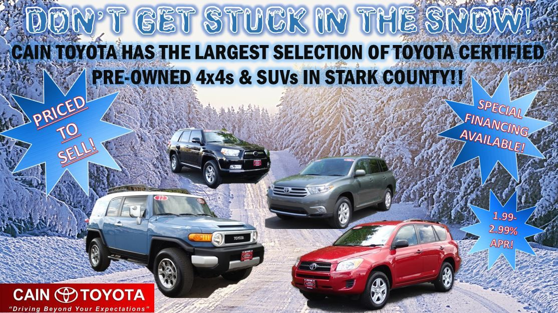 Cain Toyota has the largest selection of Certified Pre