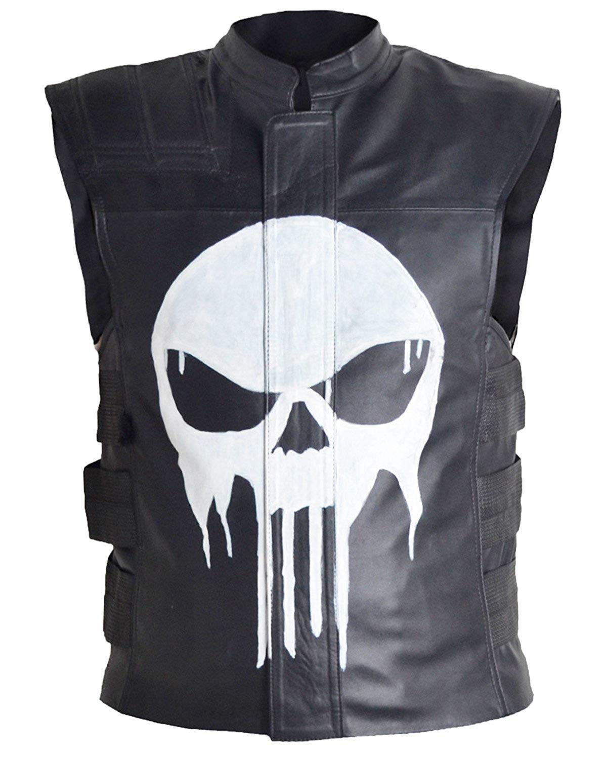 Thomas Janes The Punisher Leather Vest In 2021 Leather Vest Leather Biker Vest Black Leather Vest [ 1500 x 1200 Pixel ]