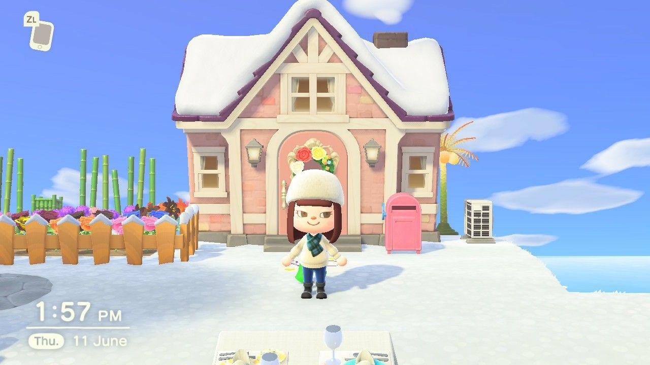 Snow In My Island Animalcrossingnewhorizons Animal Crossing My Island Animals