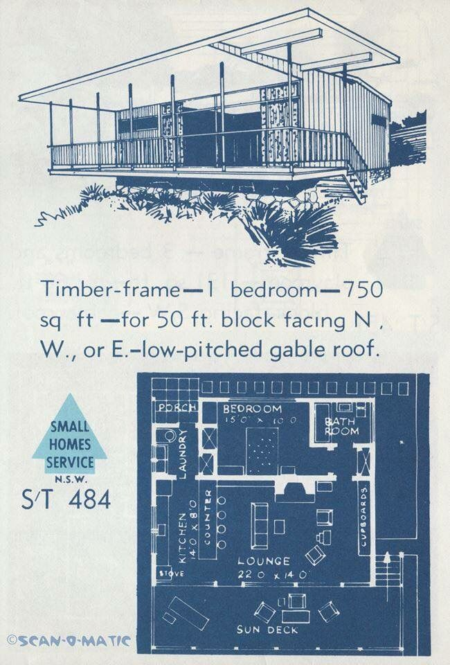 Small Retro House Mid Century Modern House Plans Vintage House Plans How To Plan