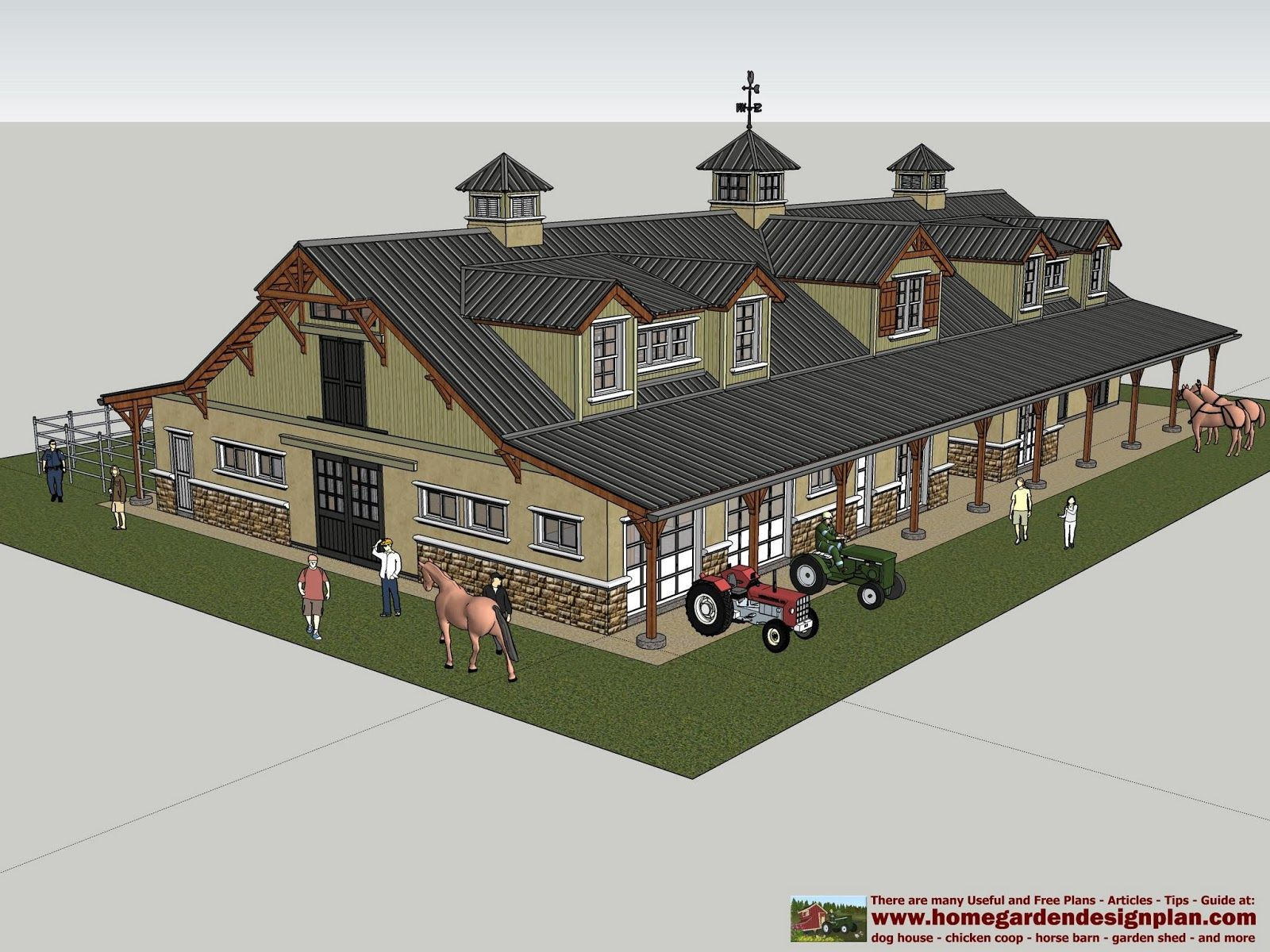 overhang blueprints htm sheds professional barns leanto with barn free plans for horse