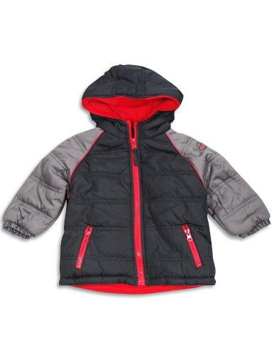 b49e973d4169 iXtreme Baby Boys Hooded Winter Jacket Black Charcoal 3089124Months ...