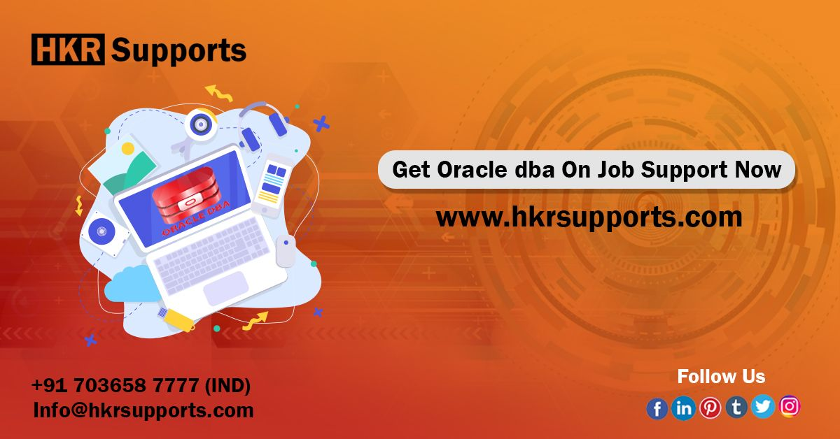 On Oracle DBA Job Support Oracle dba, Supportive, Online
