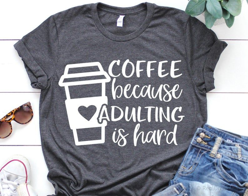 Coffee because Adulting is Hard Svg Mom Coffee Svg Funny | Etsy