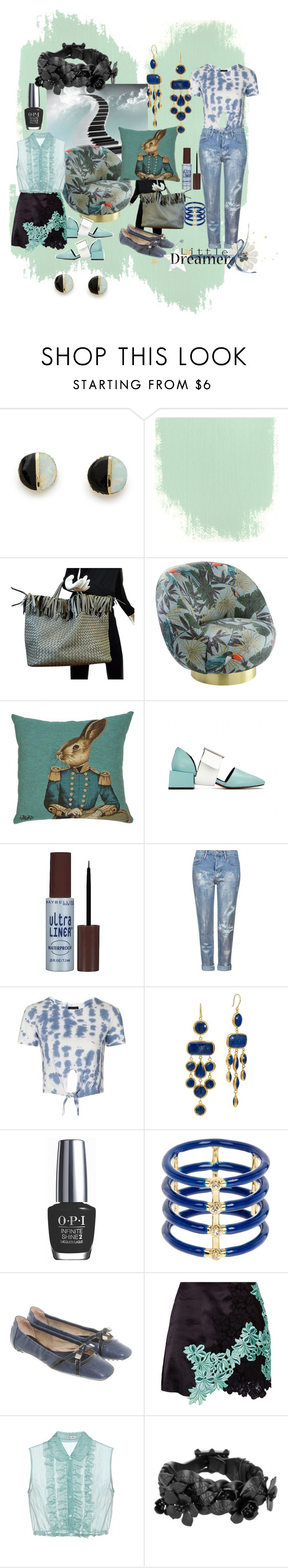 """Untitled #5041"" by pampire ❤ liked on Polyvore featuring Erica Weiner, Bottega Veneta, Maybelline, Topshop, OPI, Elizabeth and James, Tod's, 3.1 Phillip Lim, Miu Miu and Valentino"
