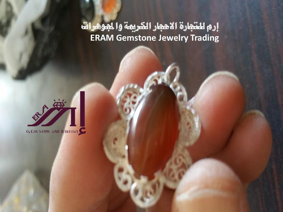 الموديل الثاني قلادة نسائي عقيق يمني احمر تمري طبيعي 100 Onyx Agate Gemstones Stud Earrings Jewelry