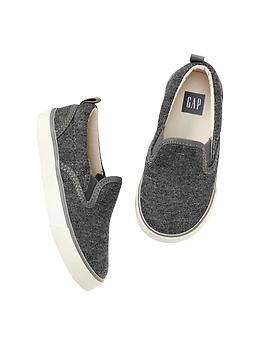 Heathered slip-on sneakers