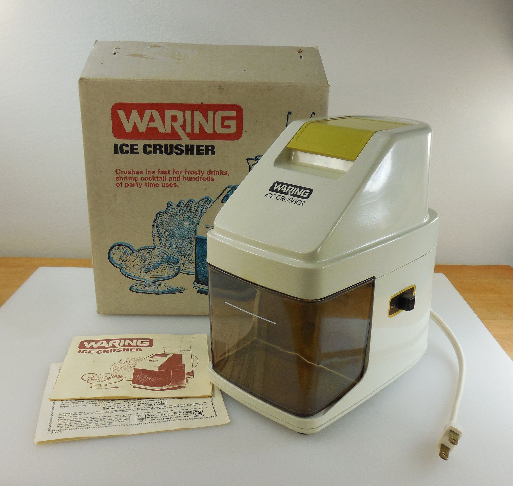 waring 1970s unused ice crusher kitchen bar electric appliance   original box  u0026 papers waring 1970s unused ice crusher kitchen bar electric appliance      rh   pinterest com