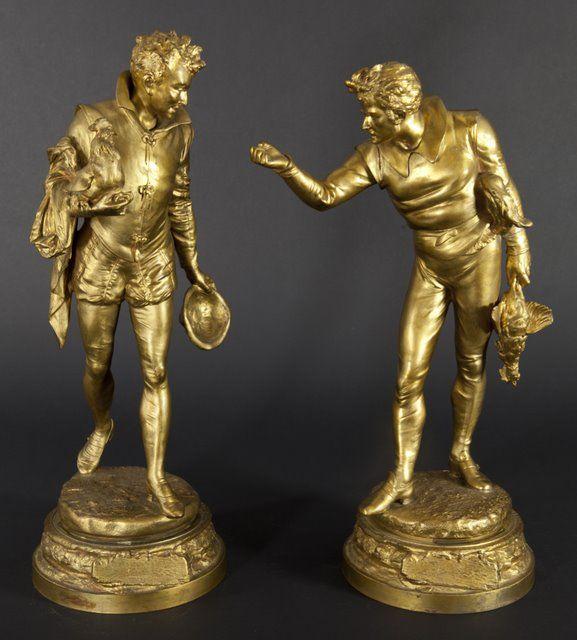 Biscuit groep van een amoureus paar, Bronzen montuur
