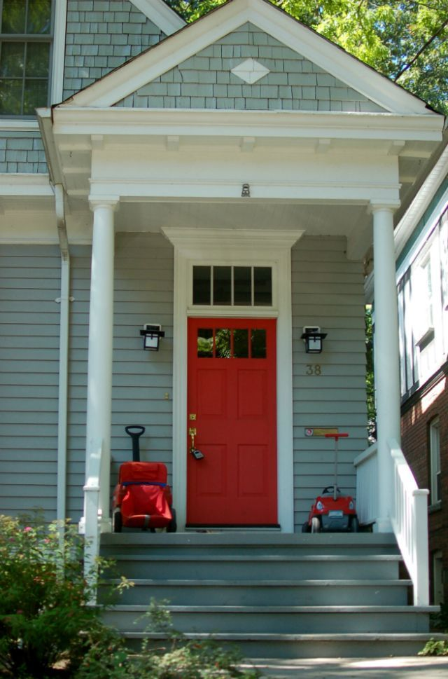 Seafoam Green House Exterior With Red Door Google Search For The