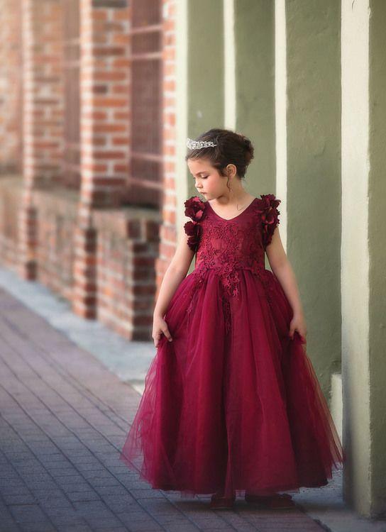 d02726ec3 Bianca Gown Burgundy   Pinnick/hutcherson Wedding   Girls fall ...