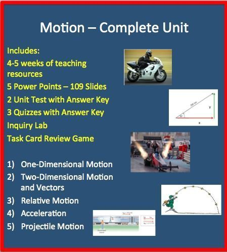 Motion Complete Unit Powerpoint Lessons Worksheets