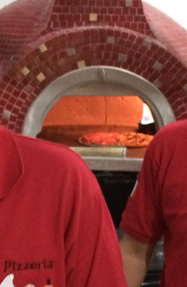 "Neapolitan Pizza in ItaliaForni Wood & Gas Fired Oven at "" El Italiano "", México City."