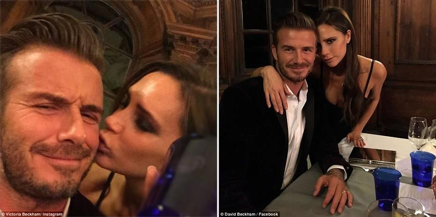 Give us a kiss! David Beckham gets a smooch from \'beautiful wife\' Victoria as they celebrate his new branded whisky.  It was recently revealed that David Beckham earns more cash than wife Victoria. But that doesn\'t faze the former Spice Girl and supportive wife, who shared a snap of herself smooching her retired soccer pro husband at a formal event on Saturday evening. The 40-year-old had joined her beau at an event thrown by alcohol label Haig Club, with whom he has partnered up to ...