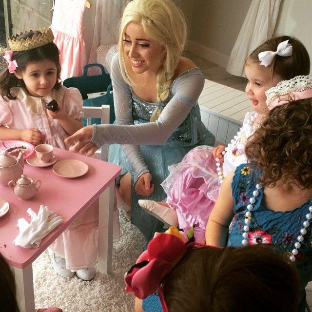 Today we had tea with Queen Elsa in our store ! #savannahgirl #Elsa #QueenElsa #princess #princessparty #frozen #cutekidsclub