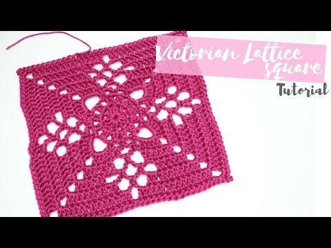CROCHET: Victorian Lattice Square tutorial | Bella Coco - YouTube ...