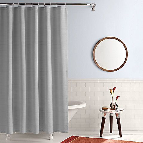 Real Simple Shower Curtain In Linear Grey Cheap Shower Curtains