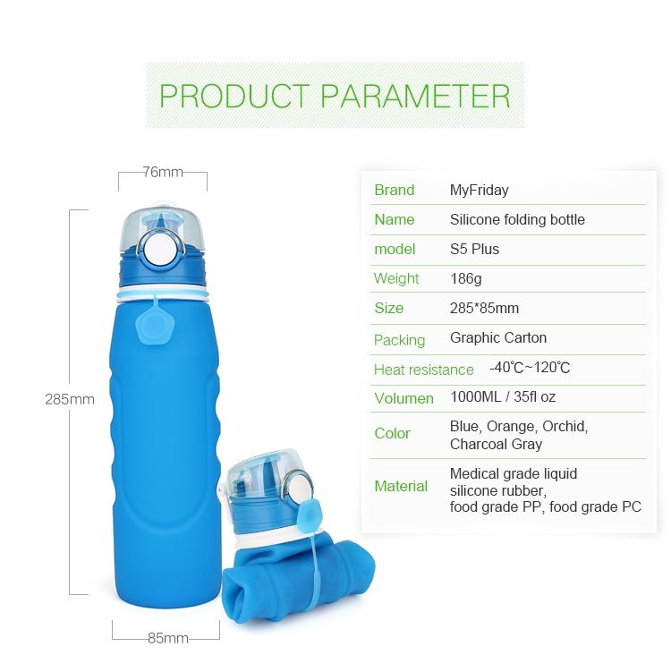 Foldable Water Bottle Detail Water Bottle Foldable Water Bottle Bottle