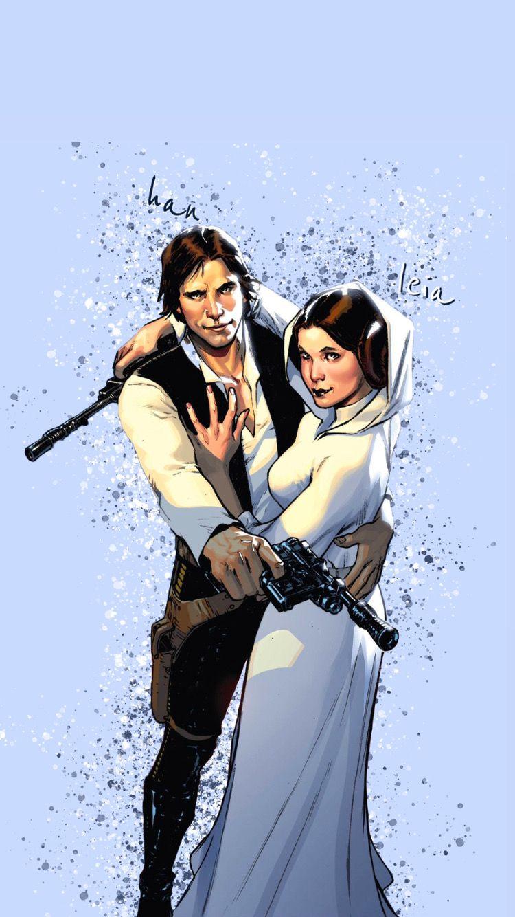 Han Leia Wallpaper Han And Leia Star Wars Art Leia Organa Solo