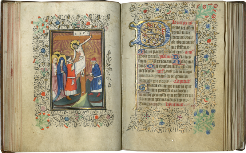 THE OVRAY HOURS (USE OF SARUM) In Latin and Middle English, illuminated manuscript on parchment Southern Netherlands, likely Bruges, c. 1430 to before 1449