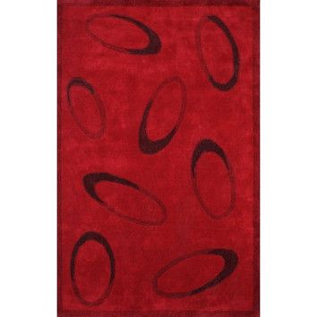 American Home Rug Co. Casual Contemporary Red/Black Le Cirque Rug