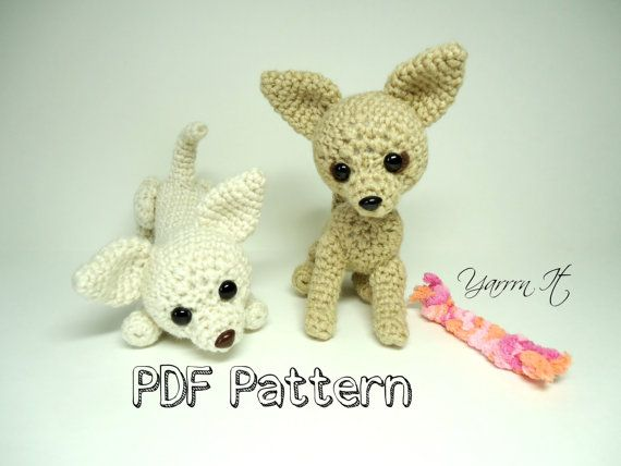 Sucre Et Gingembre Chihuahuas Pdf Crochet Pattern Par Yarrrnit