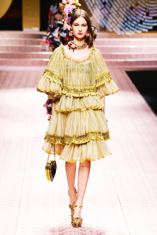 SpringSummer  Dolce u Gabbana  Golden Dresses  Pinterest