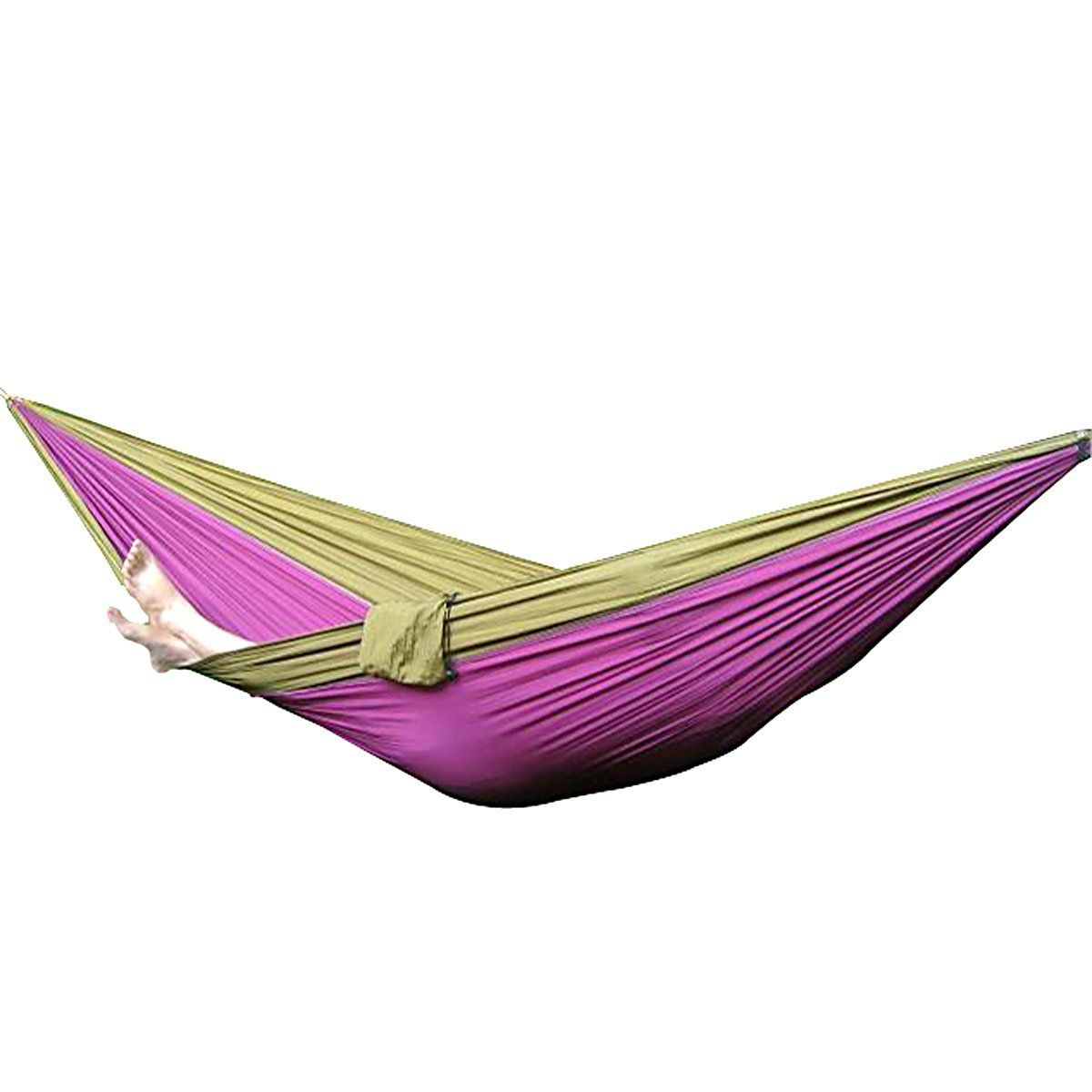 Amazon.com : Parachute Nylon Fabric Hammock Travel Camping For Single One  Person Size With Free Pen (Purple And Light Tan(one Person))) : Patio, ...