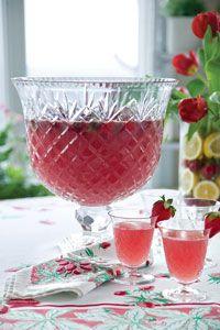 Strawberry Pink Lemonade Punch