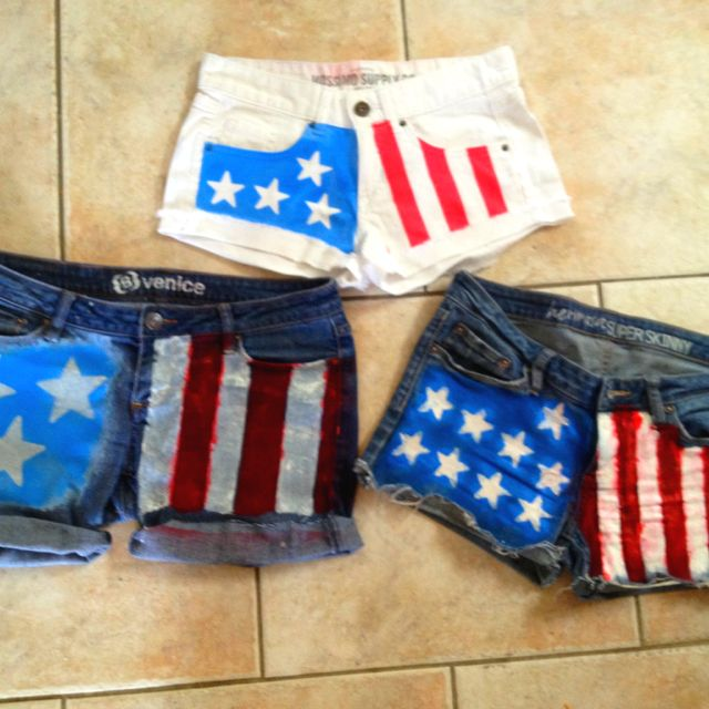 DIY American Flag Shorts! Easy to make in your own way :)