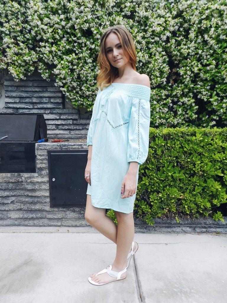 Ashleysoutfits Instagram Ashleyrouse 94 Summer Off The Shoulder Dress From Target Light Blue Boho Dress Blue Boho Dress Target Dresses White Boho Dress [ 1024 x 768 Pixel ]