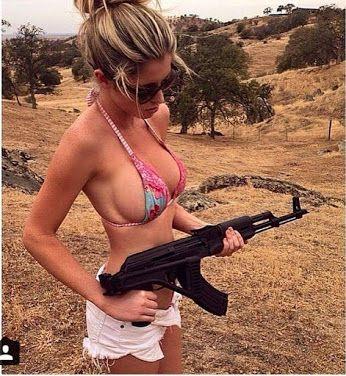 shoting tits with big women guns