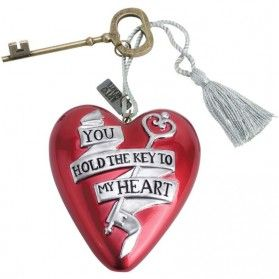 Rood hart valentijnscadeau you hold the key to my heart