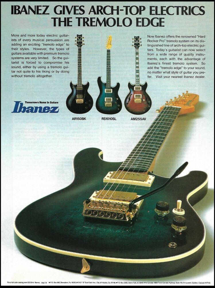 Ibanez RS 1010SL Arch-Top Hard Rocker Pro Tremolo guitar ad