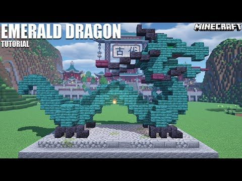 ✨Minecraft Tutorial Medium Japanese Dragon Emerald How to build