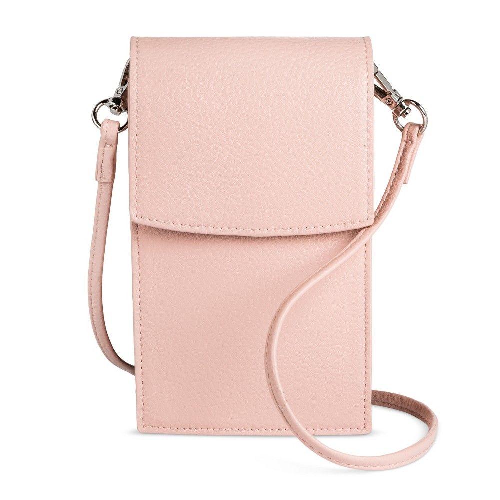 Women s Cellphone Crossbody Handbag - Mossimo Supply Co. Blush 963cf6e767da6