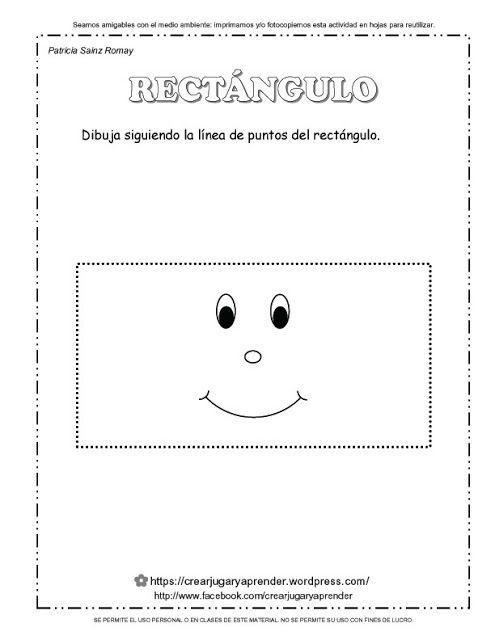 Trabajando En Educacion Infantil 10 Fichas Para Identificar El Rectangulo Figuras Geometricas Fichas Clase De Matematicas