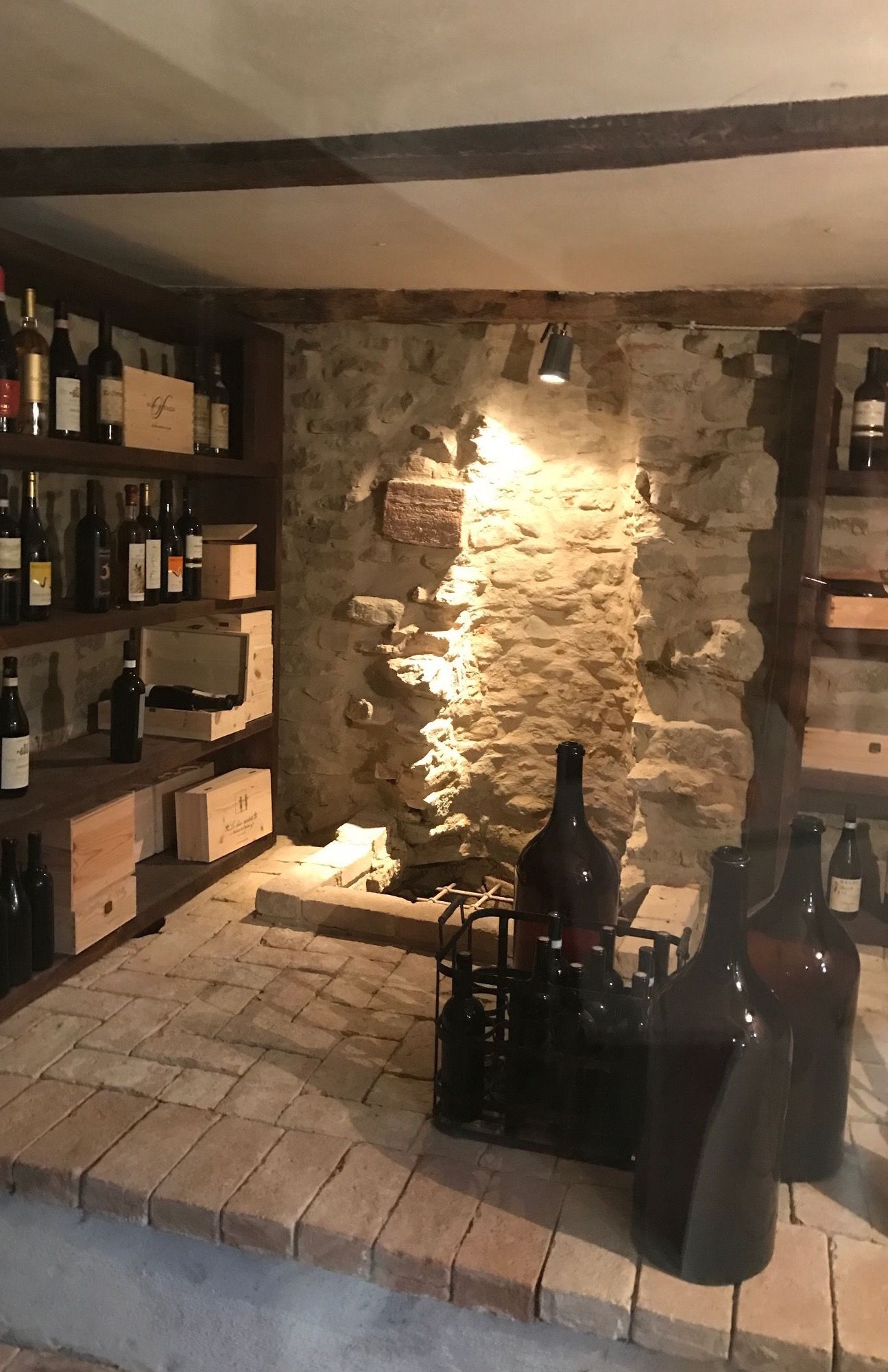 Lovely wine cellar at charming B&B, base of Piedmont