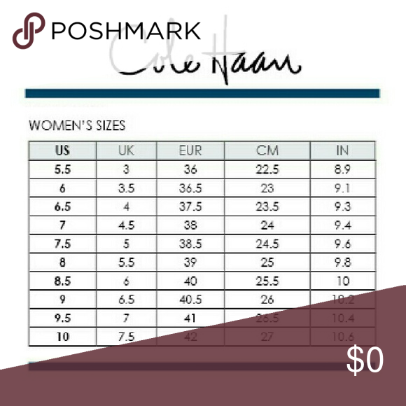 Cole haan sizing chart  reference for all the shoes sale in my also rh pinterest